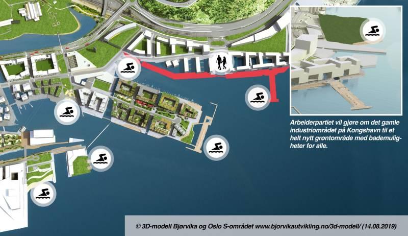 Tre nye badeplasser og verdens lengste sjøpromenade.