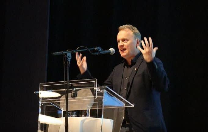 Raymond taler på representantskapet 23. januar 2018