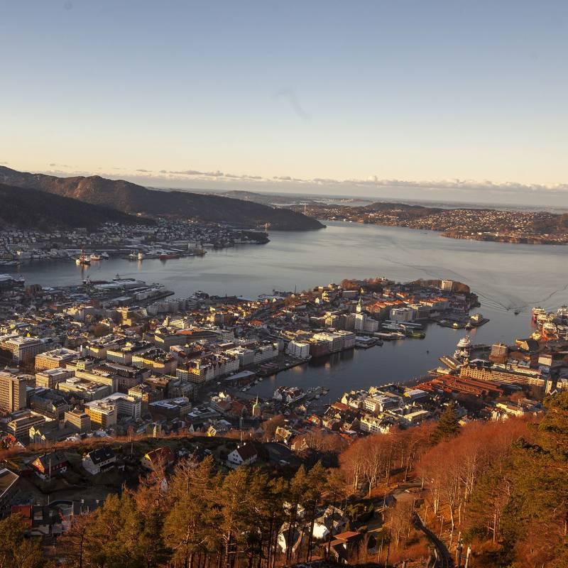 Bilde av Bergen fra Fløyen