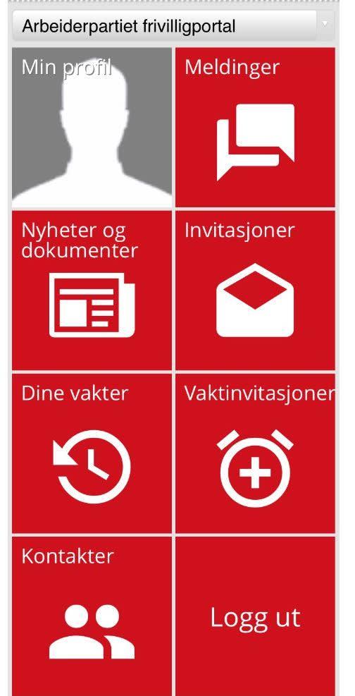bilde av portalen slik den kommer frem på mobilen