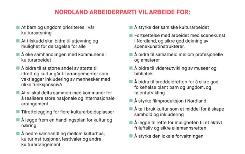 Kultur Nordland Ap