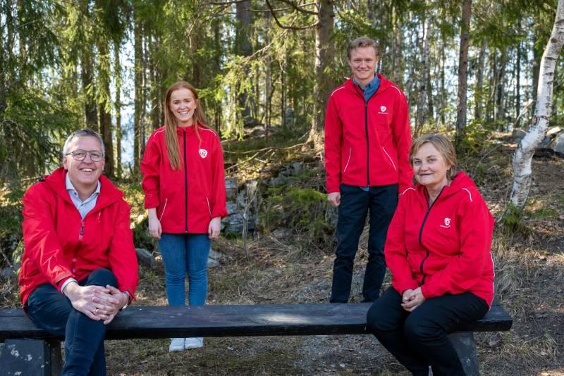 Her er topp 4 i Oppland valgkrets. Fra venstre: meg, Ingrid Tønseth Myhr, Anders Brabrand og Rigmor Aasrud.