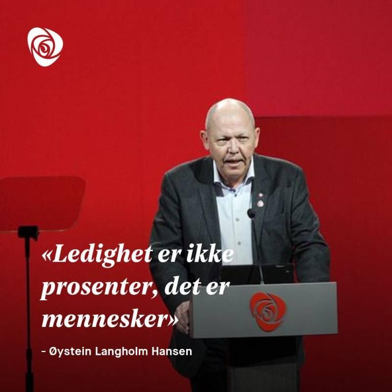Sitatplakat Øystein Langholm Hansen