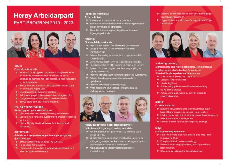 Partiprogram Herøy Arbeiderparti 2019- 2023