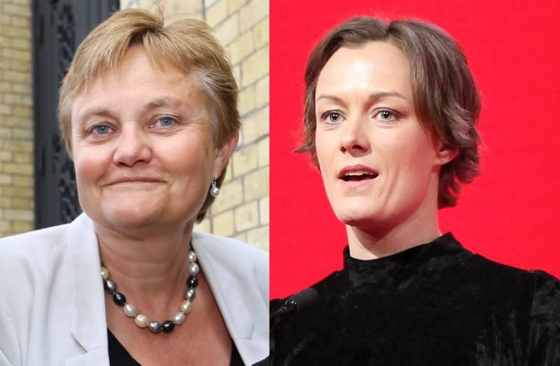 Rigmor Aasrud og Anette Trettebergstuen