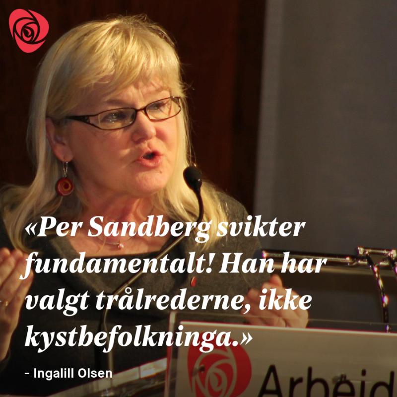 Ingalill Olsen om Per Sandbergs ran av kysten