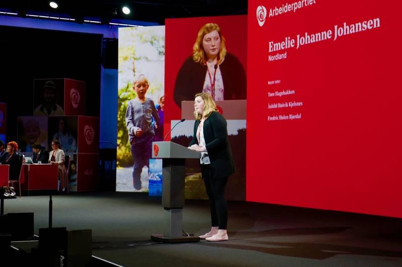 Emelie Johansen er leder av AUF i Nordland.