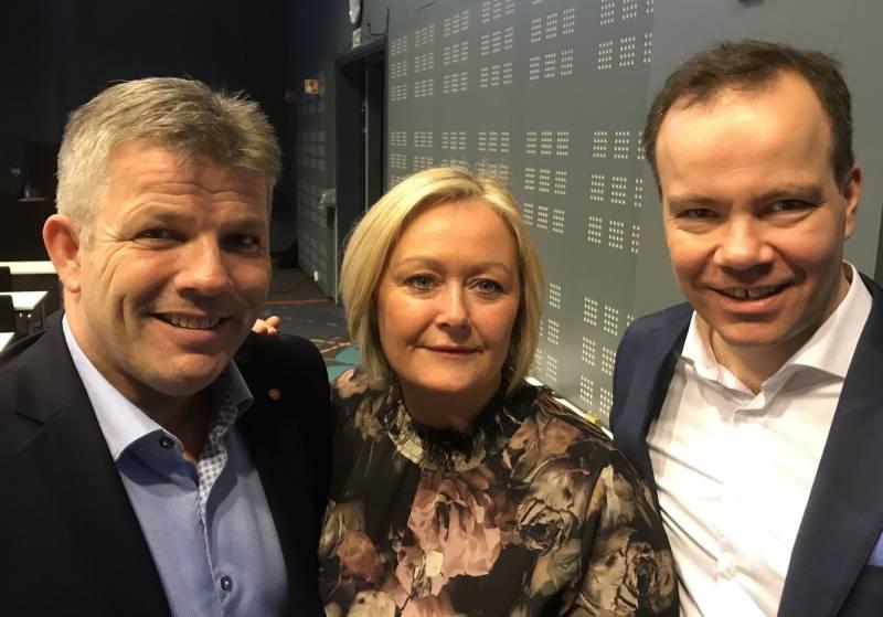 Fra venstre: Bjørnar Skjæran, Mona Nilsen og Tomas Norvoll