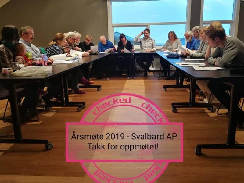 Takk for oppmøtet på Svalbard Arbeiderparti sitt årsmøte 2019. Vi ser frem til en engasjerende og spennende valgkamp! Lykke til til det nye styret!