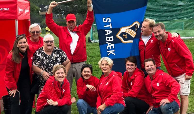 Bærum Arbeiderparti på Stabæk fotball kamp