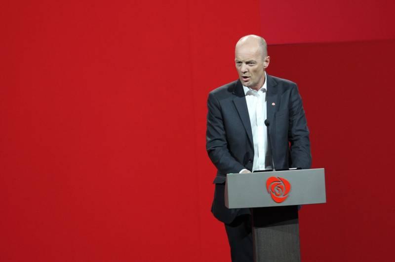 Steinar Karlstrøm på talerstolen under Landsmøtet 2017
