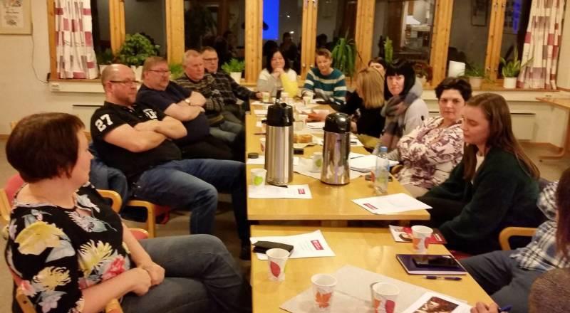 Godt oppmøte og gode diskusjoner under Skjervøy Arbeiderpartis årsmøte i 2019.