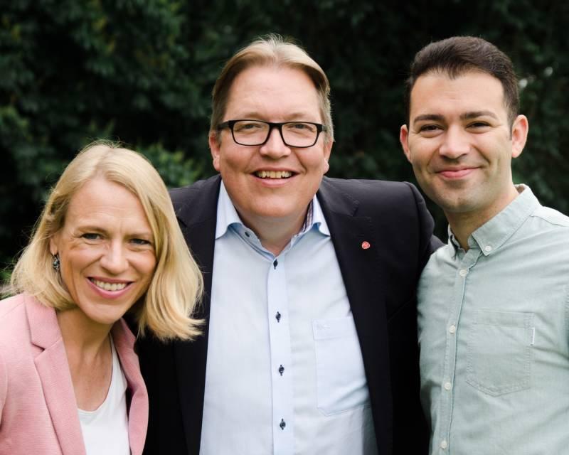 Sverre Myrli, Anniken Huitfeldt og Mani Hussaini, stortingskandidater for Akershus Arbeiderparti