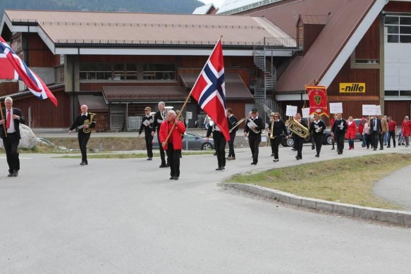 1. mai toget i Sør-Aurdal