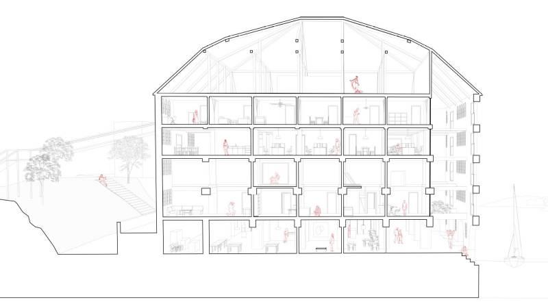 Forslag til etablering av kulturfunksjoner i Stålehuset, Ill. Ark. Therese Saltvedt