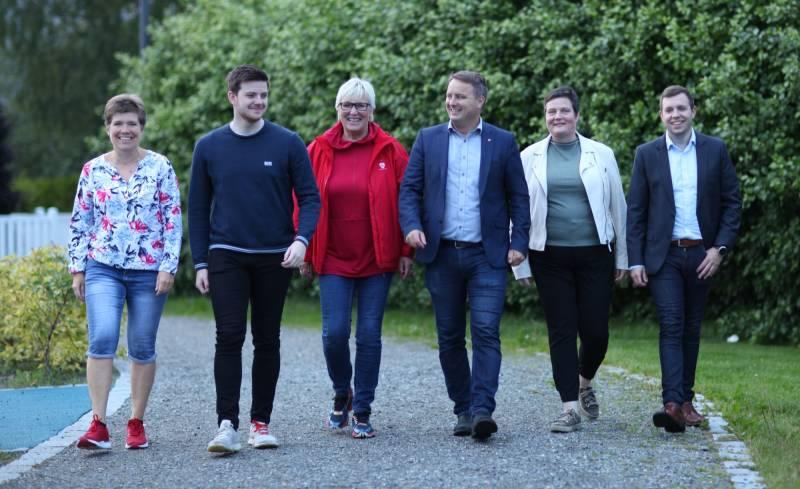Stjørdal Arbeiderpartis 6 toppkandidater