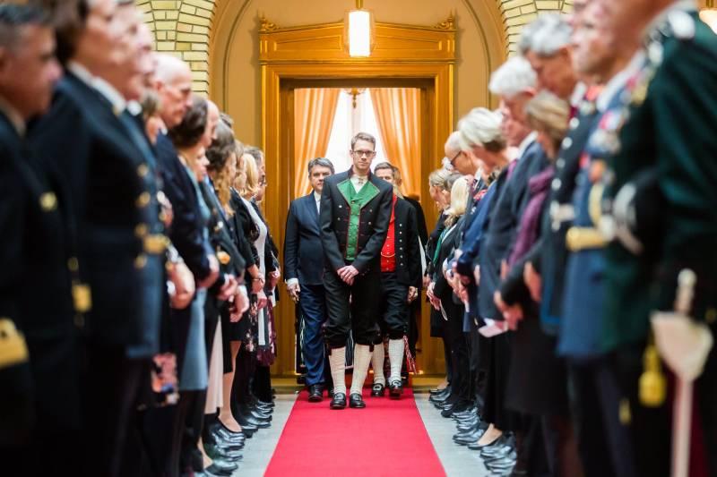 Eigil Knutsen på åpningen av Stortinget