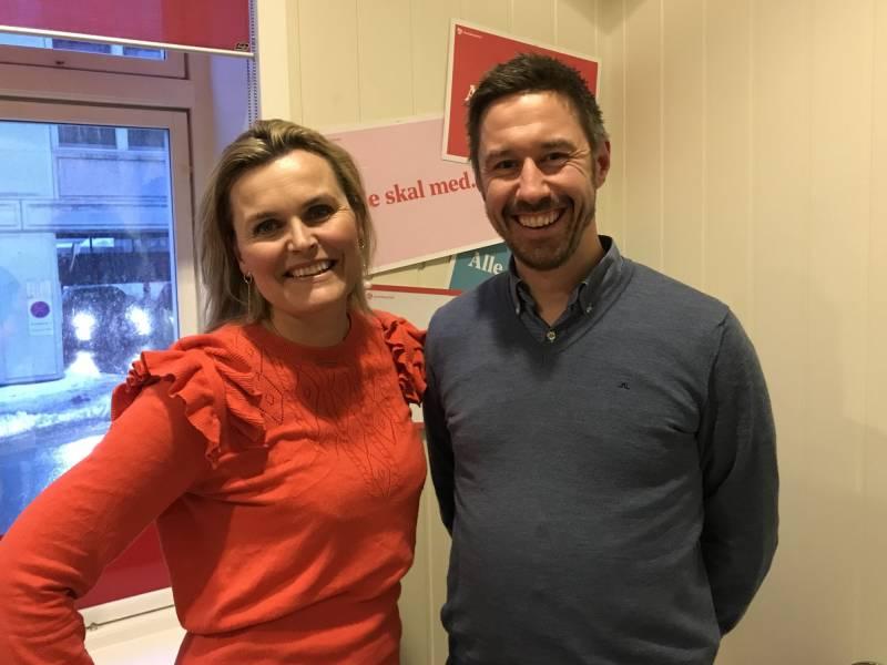 Cecilie Knibe Haglund og Even Tronstad Sagebakken foreslås som ny lederduo i Agder arbeiderparti