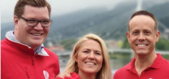 Våre tre toppkandidater: Eivind Knudsen, Monica Myrvold Berg og Mads Hilden.