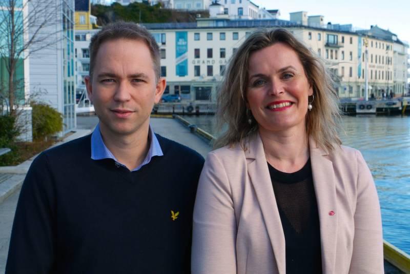 Tellef Inge Mørland og Cecilie Knibe Hanssen
