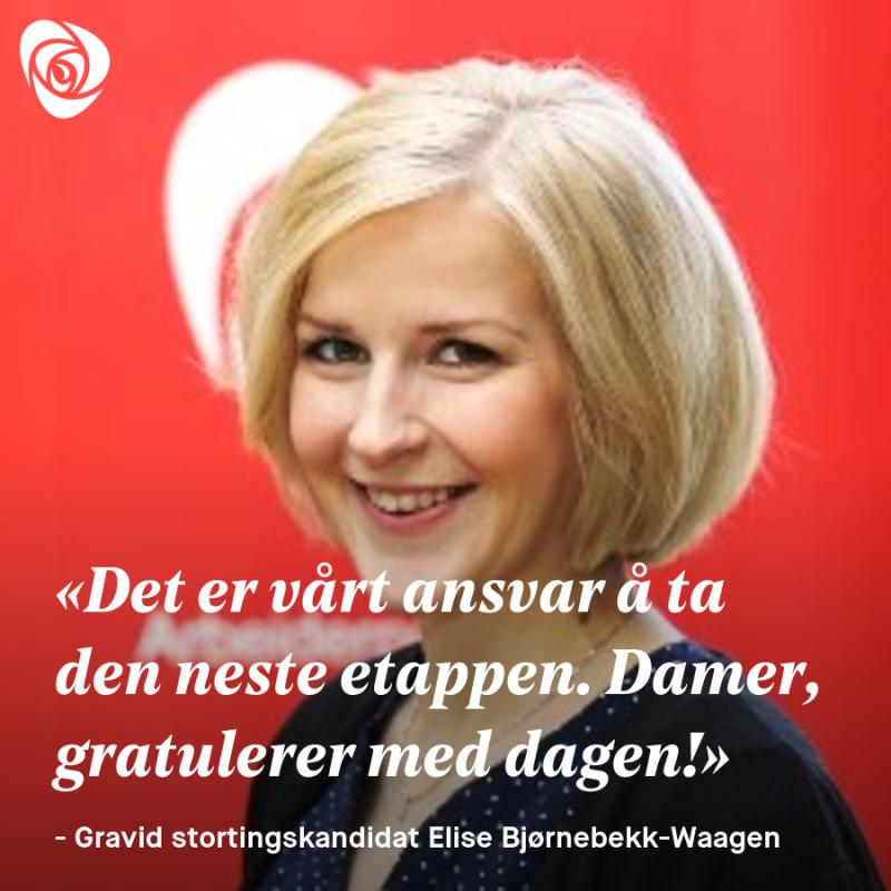 Heldigvis har vi kommet langt i Norge takket være modige damer som har brøytet vei. I dag kjenner jeg en følelse av takknemlighet for disse damene som ikke ga opp, men som steg for steg har gjort det til en selvfølge og en rett til å ta delta.   Det er mange milepæler å se tilbake på. For ikke lenge siden markerte vi 100 år med stemmerett for kvinner som ble innført i 1913. I 1978 ble lov om likestilling vedtatt, og fedrekvoten så dagens lys i 1993 under Gro Harlem Brundtlands regjering. Fedrekvoten var da på fire uker og har senere blitt økt.  Pappapermen har vært viktig for å gi far en mulighet til å ta større omsorgsansvar, men også for økt likestilling i arbeidslivet. Høyre og Frp i regjering valgte i 2014 å senke pappapermen fra 14 til 10 uker. Konsekvensen er at fedre tar ut kortere permisjon.   Jeg tror de færreste går rundt å føler på forskjeller mellom menn og kvinner i hverdagen, men dessverre viser tallene at vi ikke er i mål. kvinner tjener i snitt 88 kroner for hver 100-lapp menn tjener. Blant folkevalgte er 6 av 10 kommunestyrerepresentanter menn, og i arbeidslivet er 2 av 3 lederstillinger besatt av menn.  Løfter vi blikket utover Norges grenser er forskjellene enda mer tydelige. Over halvparten av verdens fattige er kvinner, og FN oppgir at 60 prosent av alle kronisk sultne er kvinner.  Globalt tjener kvinnene 24 prosent mindre enn menn, og i de afrikanske landene sør for Sahara fullfører bare 23 prosent av fattige landsbyjenter grunnskolen. Kvinner verden over møter juridiske barrierer for deltagelse, i 155 land i verden eksisterer det fortsatt lover som er til hinder for likestilling. Et eksempel på dette er at menn med loven i hånd kan nekte sin kone å jobbe i 18 land.  Hver tredje kvinne i verden blir utsatt for seksuelle overgrep eller andre former for vold i løpet av livet, og tall viser at 55 % av kvinnene innenfor EU har opplevd seksuell trakassering minst en gang fra 15-årsalderen.    Mangel på utdanning, arbeid og helsetjenester står i veie