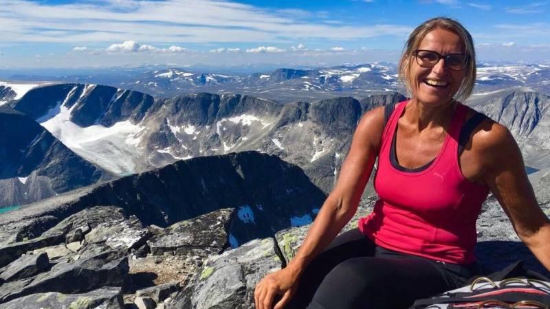 Kristin Langtjernet på fjelltur