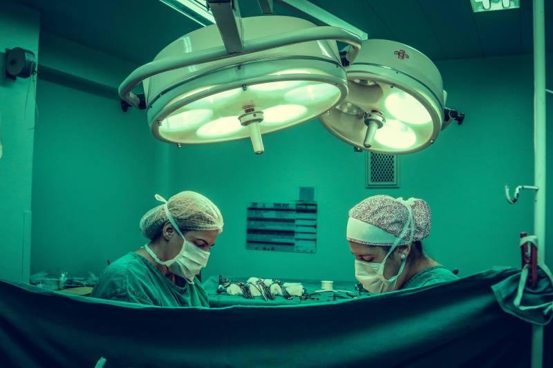 Bilde av kirurisk inngrep