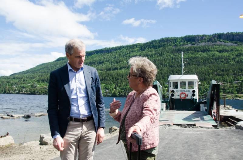 Marit Bjørlo og Jonas Gahr støre klar for å vinne valget
