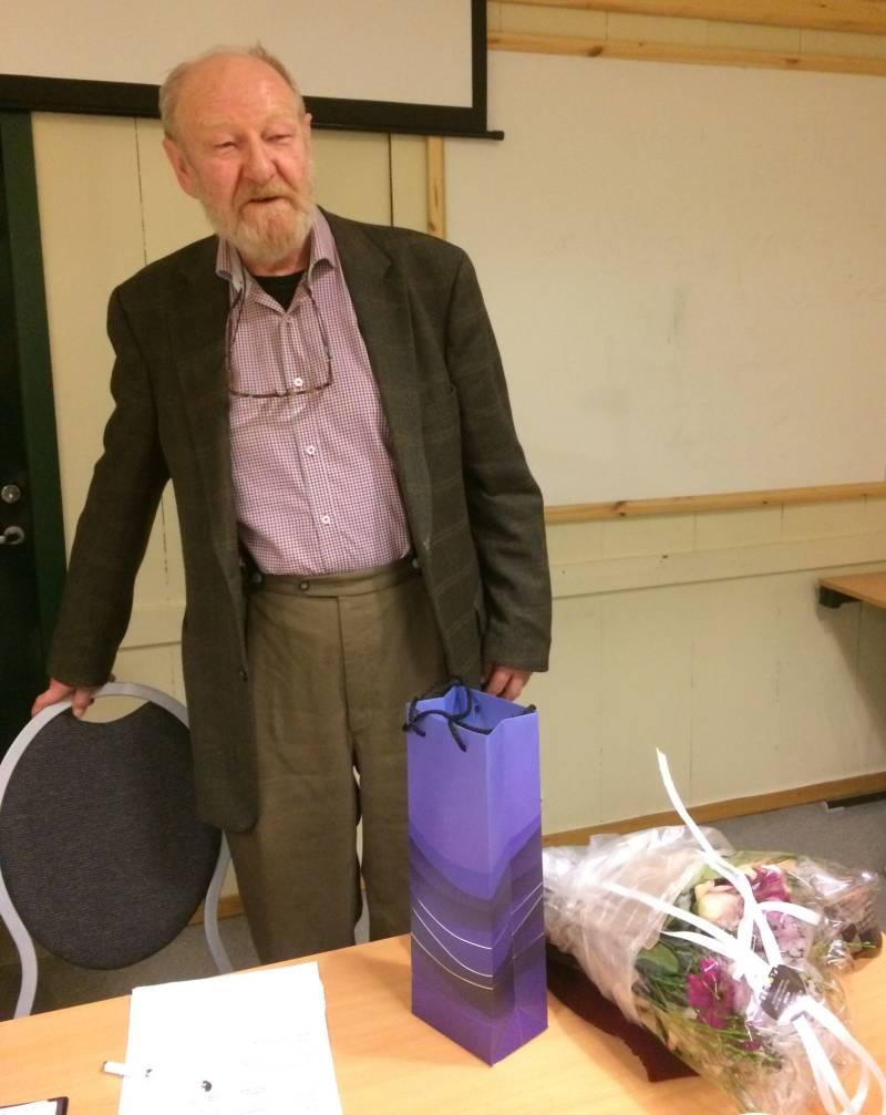 Lars Anders Myhre gikk av som leder i SSF 15.mars, etter 60 år som tillitsvalgt