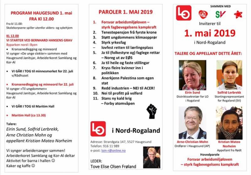 Program 1. mai