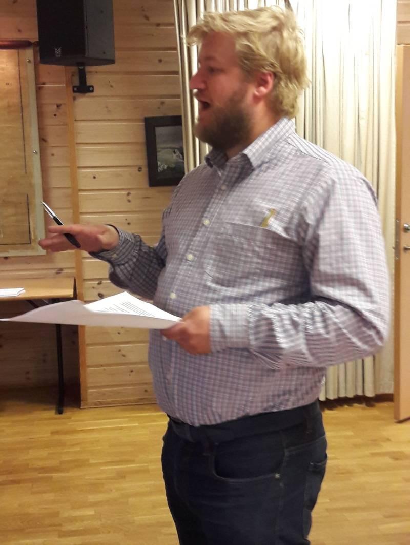 Morten Ellingsen på medlemsmøte 2018-09-24