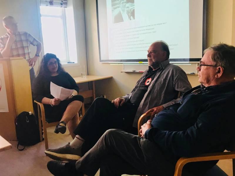 Anahita Jafari intervjuet Ap-veteranene Nils-Henning Hontvedt og Andor Røstad om deres 30 år med erfaring fra Horten Arbeiderparti.