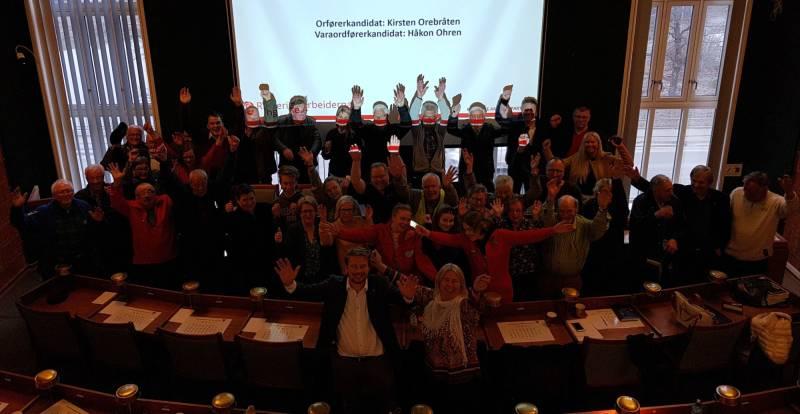 Kirsten Orebråten og Håkon Ohren valgt til ordfører- og varaordførerkandidat