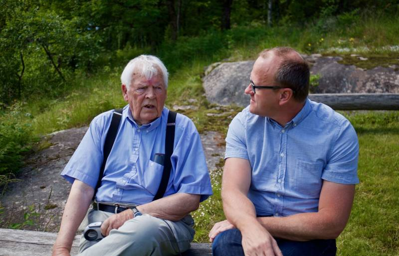 Bilde av Thorbjørn Berntsen og Frode Jacobsen på Bånkall gård