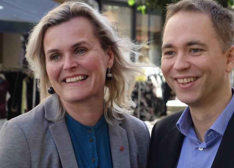 Stortingskandidatene tellef Inge Mørland og Cecilie Knibe Hanssen