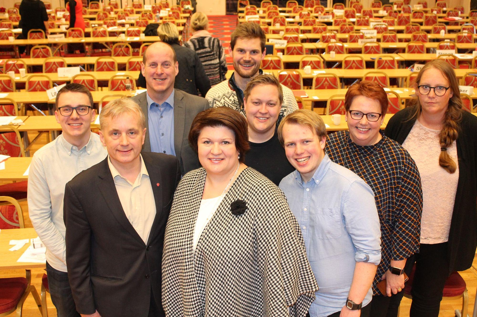 Det nye partistyret i Hedmark Arbeiderparti. Foto: Bjørn Jarle Røberg-Larsen