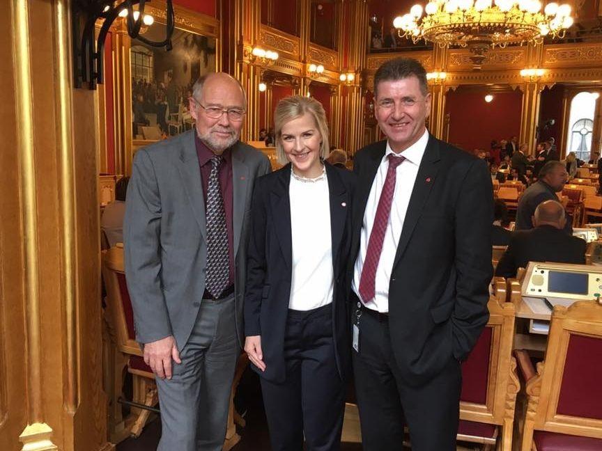 Våre tre stortingsrepresentanter