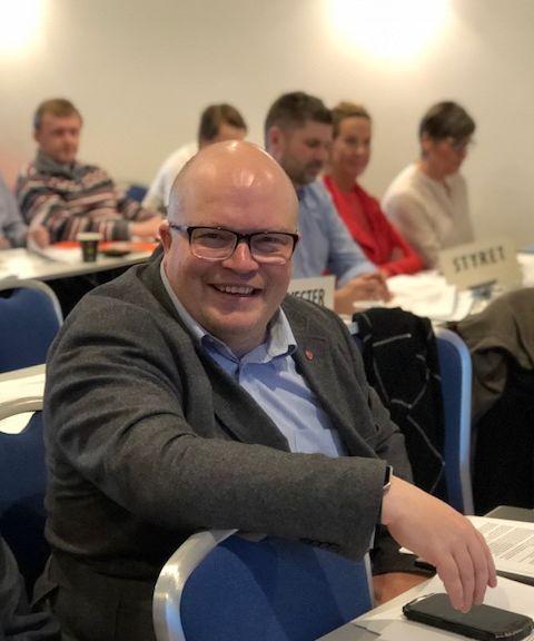 Per Vidar Kjølmoen på årsmøtet 11. mars 2018