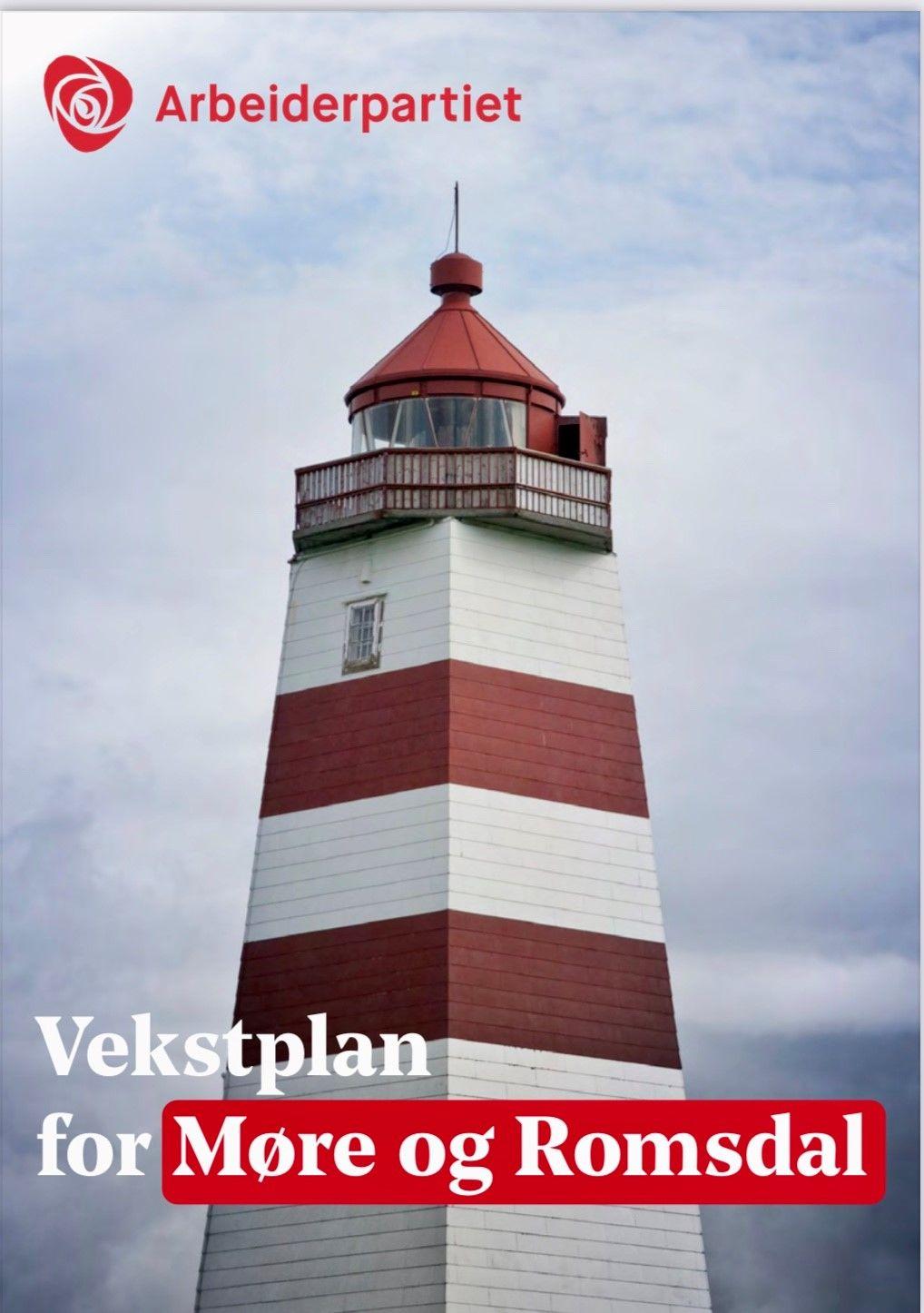 Alnes fyr pryder forsiden på vekstplan for Møre og Romsdal.