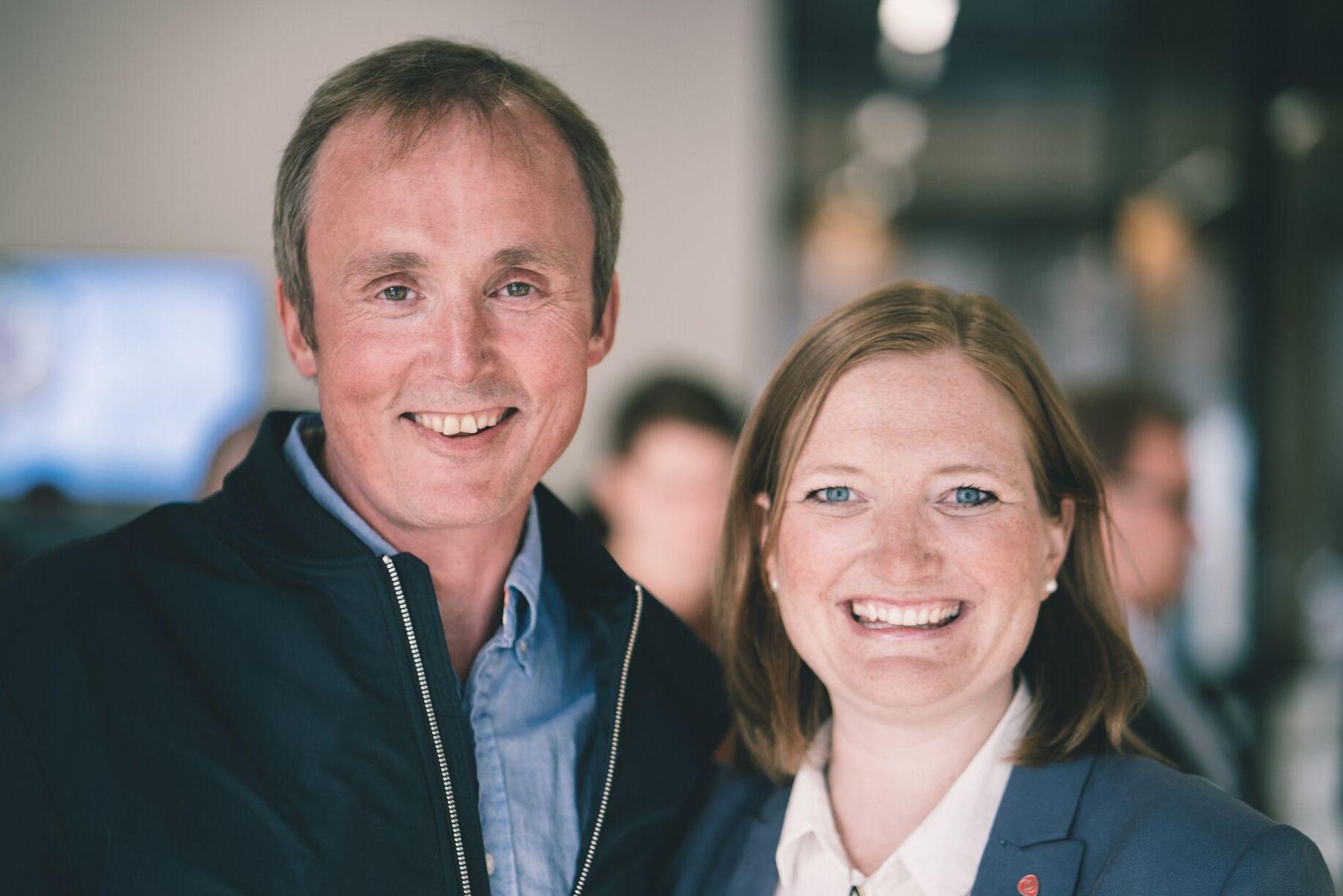 Ida Pinnerød og Morten Melå er våre øverste kandidater ved valget.