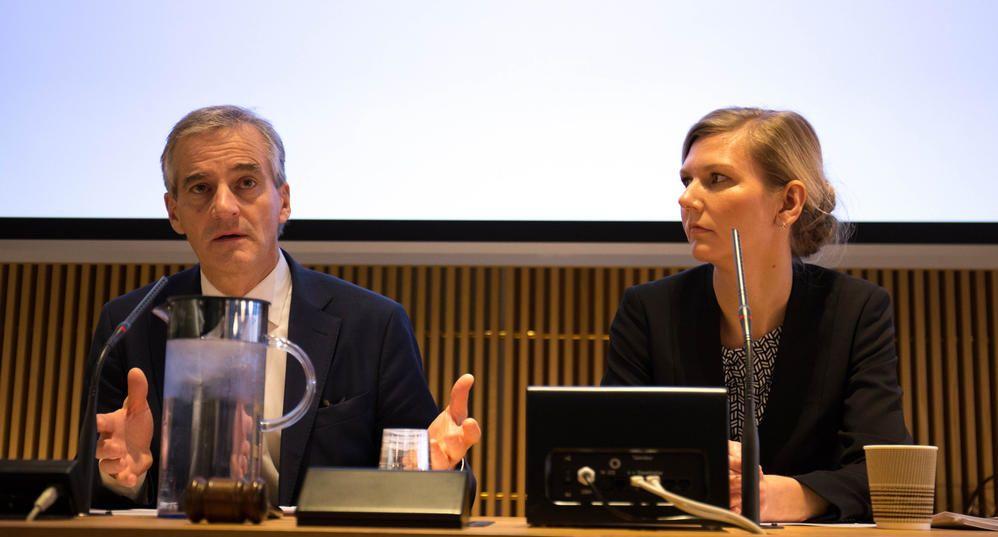 Jonas Gahr Støre og Marianne Marthinsen