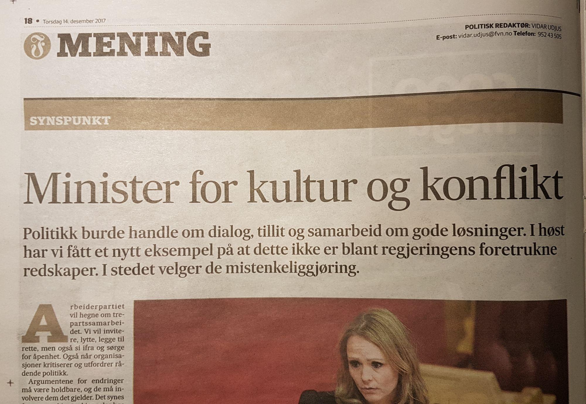 Minister for kultur og konflikt