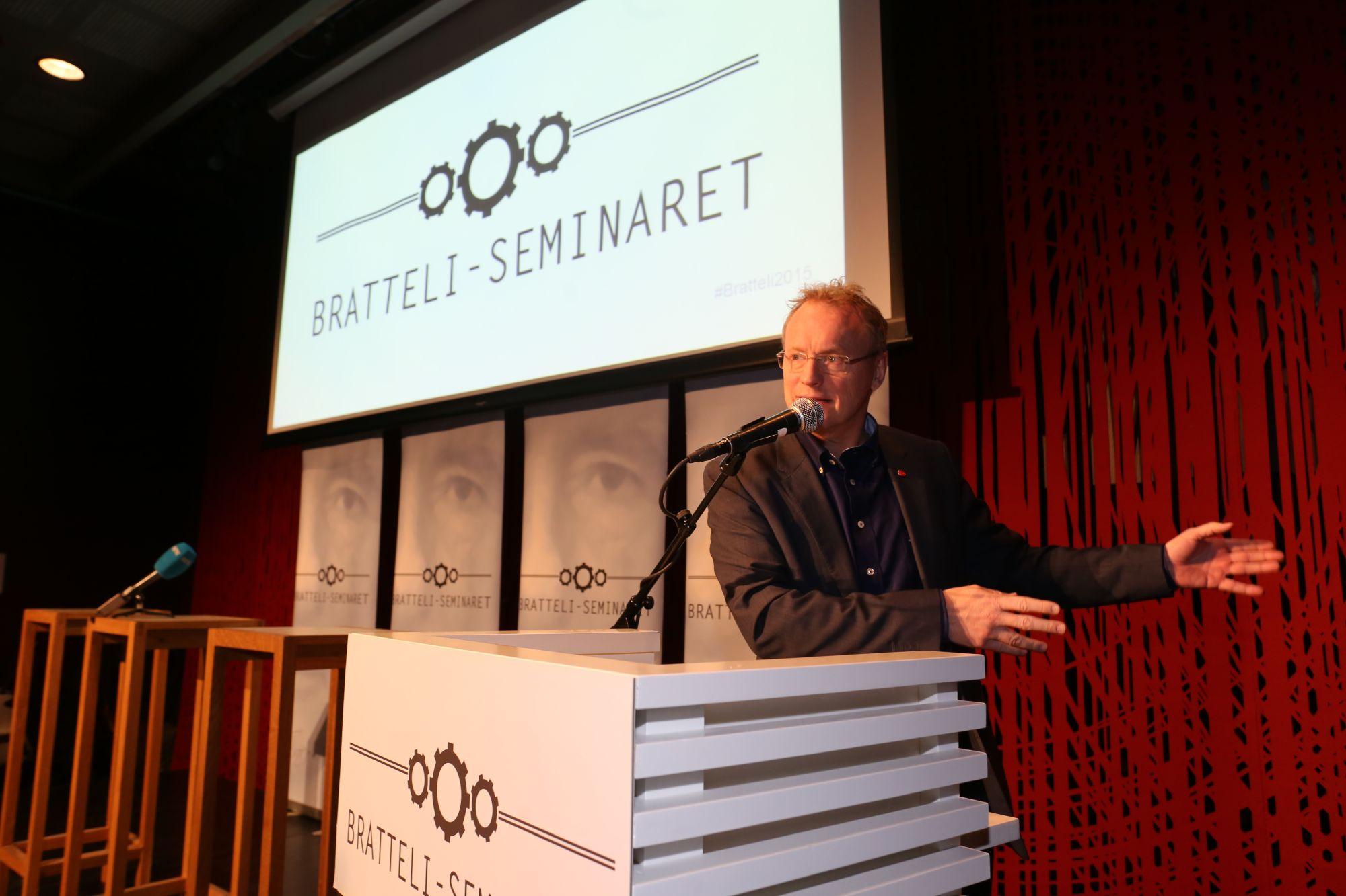 Raymond Johansen på Bratteli-seminaret