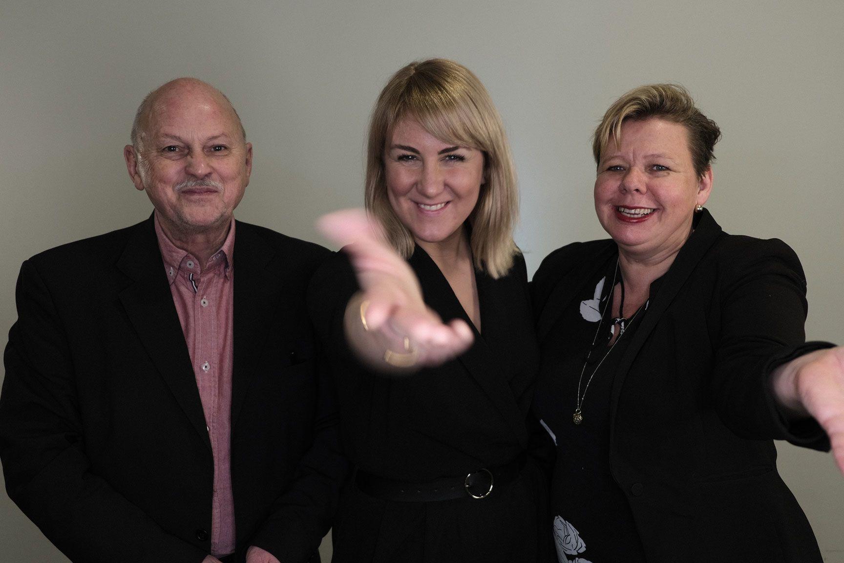 Roger Ryberg, Tonje Brenna og Siv Henriette Jakobsen er glade for å være valgt som toppkandidater i Viken
