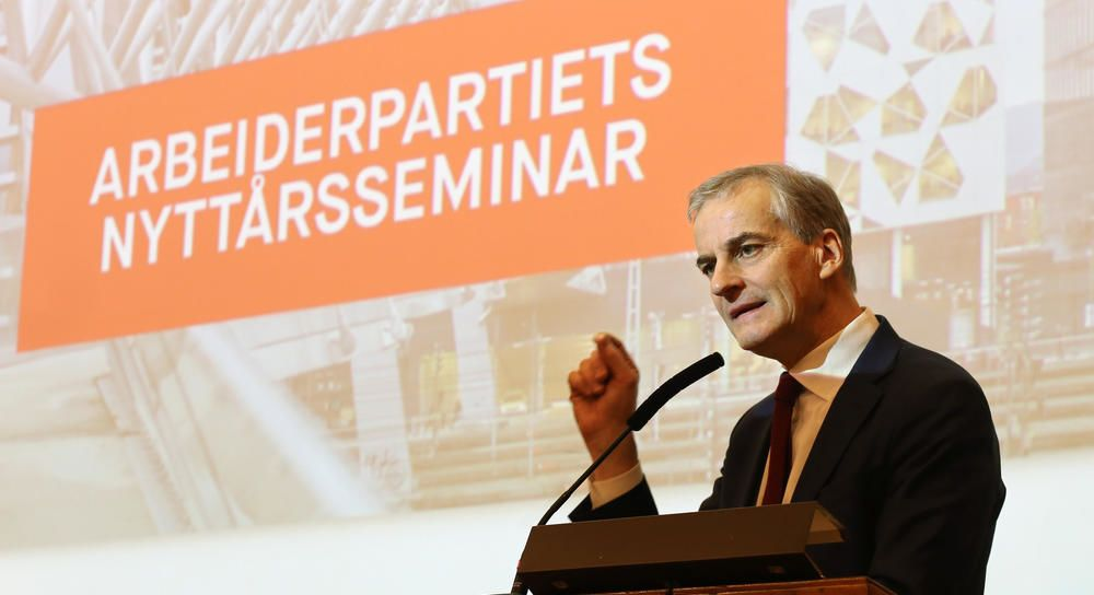 Jonas Gahr Støre på Arbeiderpartiets nyttårsseminar
