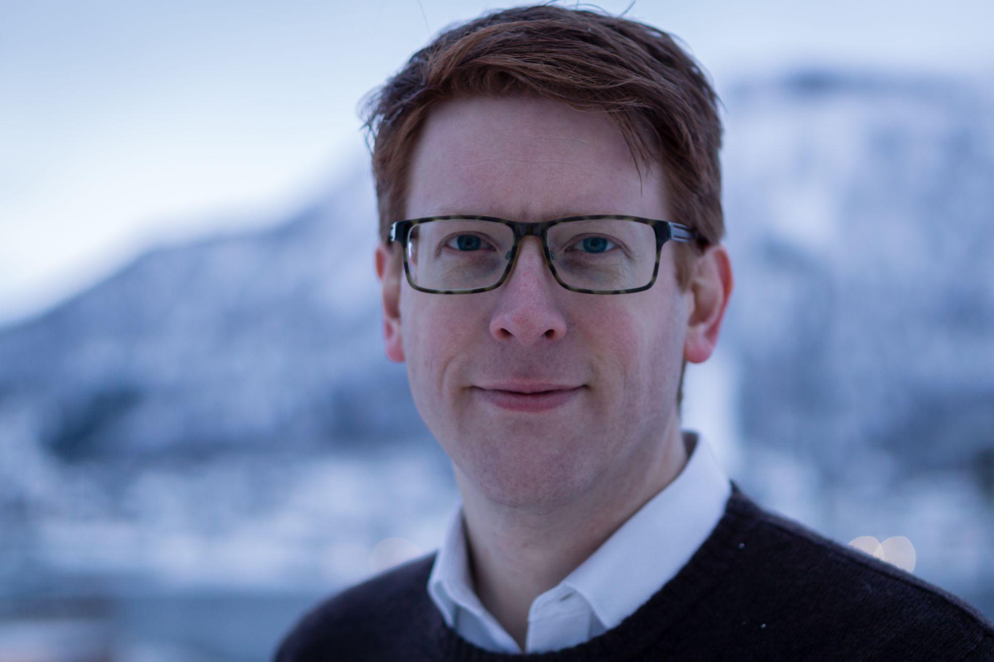 Martin Henriksen i Tromsø vinterstid.
