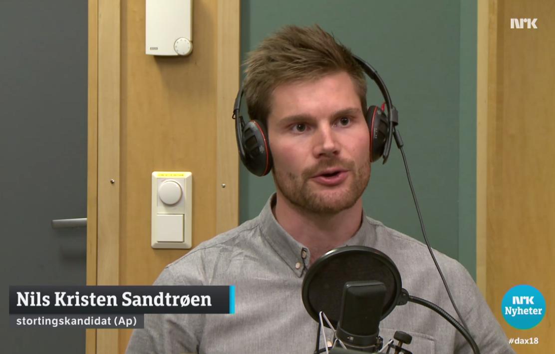 Nils Kristen Sandtrøen på Dagsnytt 18