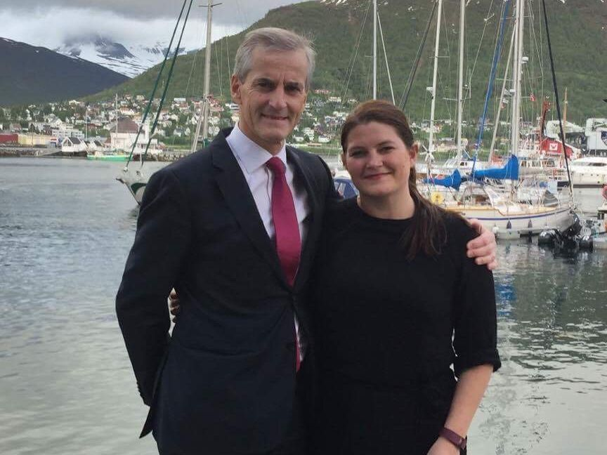 Cecile Myrseth og Jonas Gahr Støre