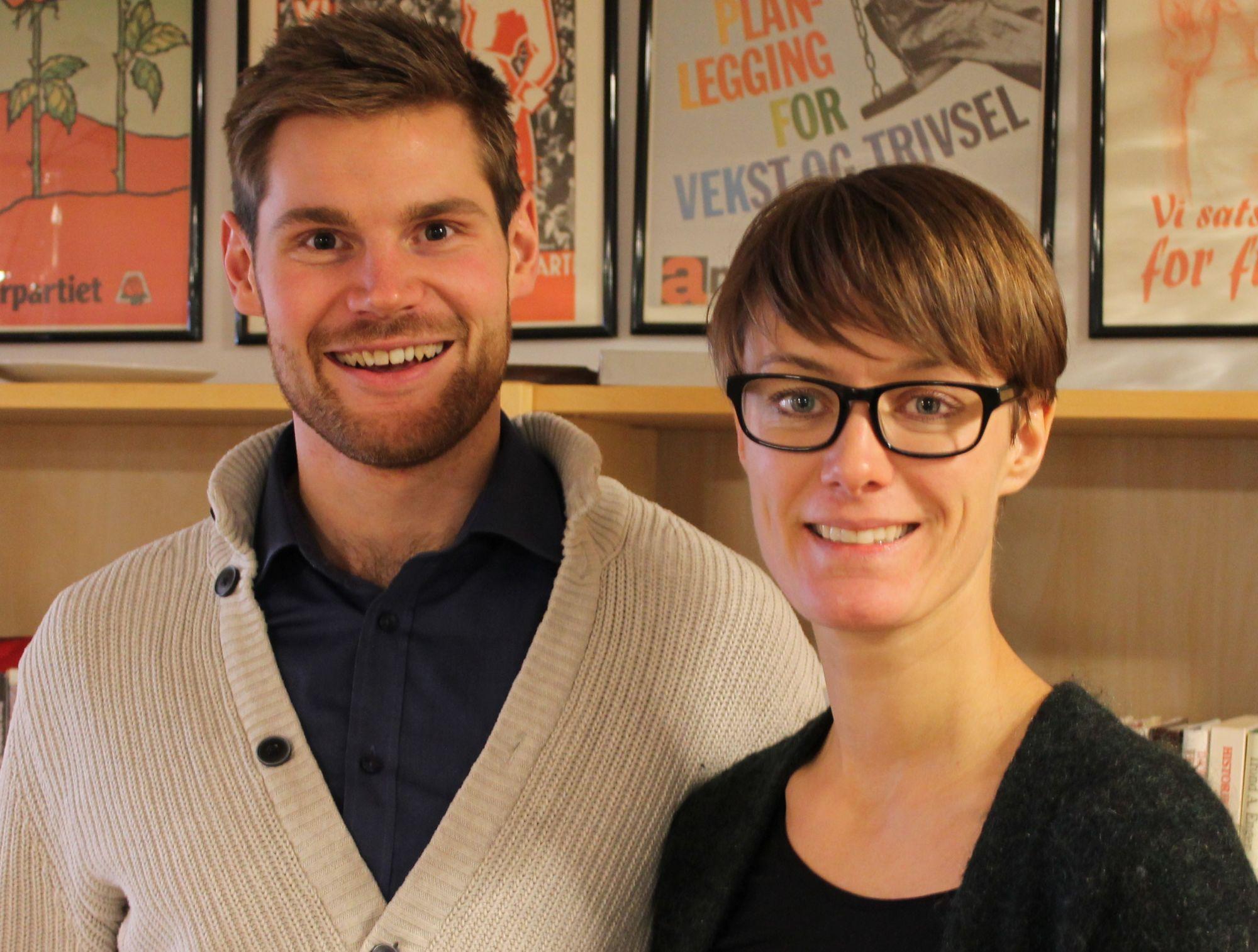 Anette Trettebergstuen og Nils Kristen Sandtrøen. Foto: Bjørn Jarle Røberg-Larsen