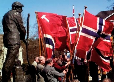 Første mai Eydehavn flaggborg